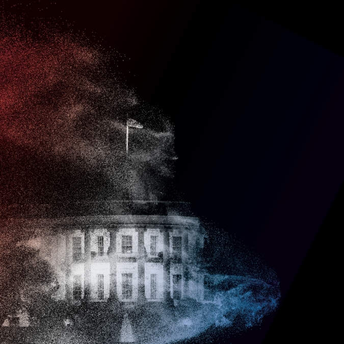 An illustration of the White House for Election Day