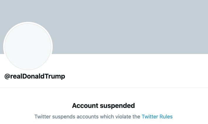 donald trump suspended