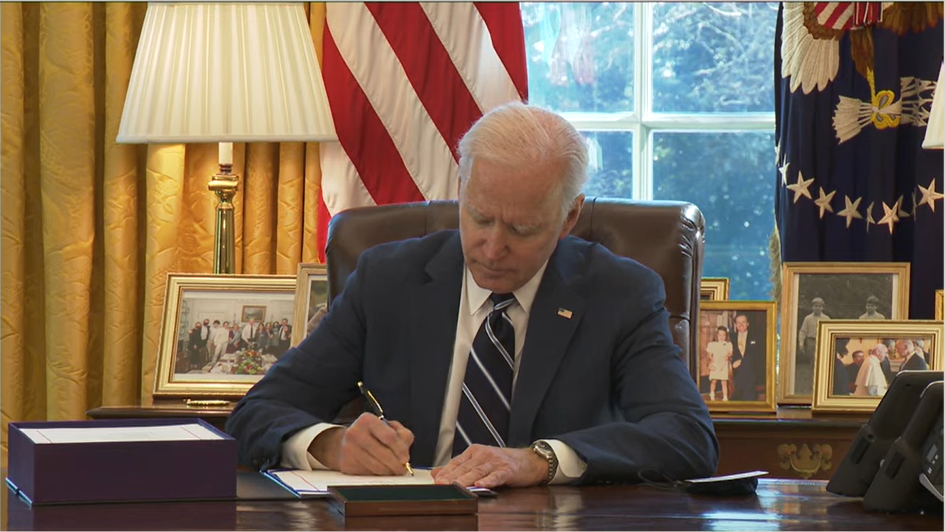 Joe Biden Signs the American Rescue Plan