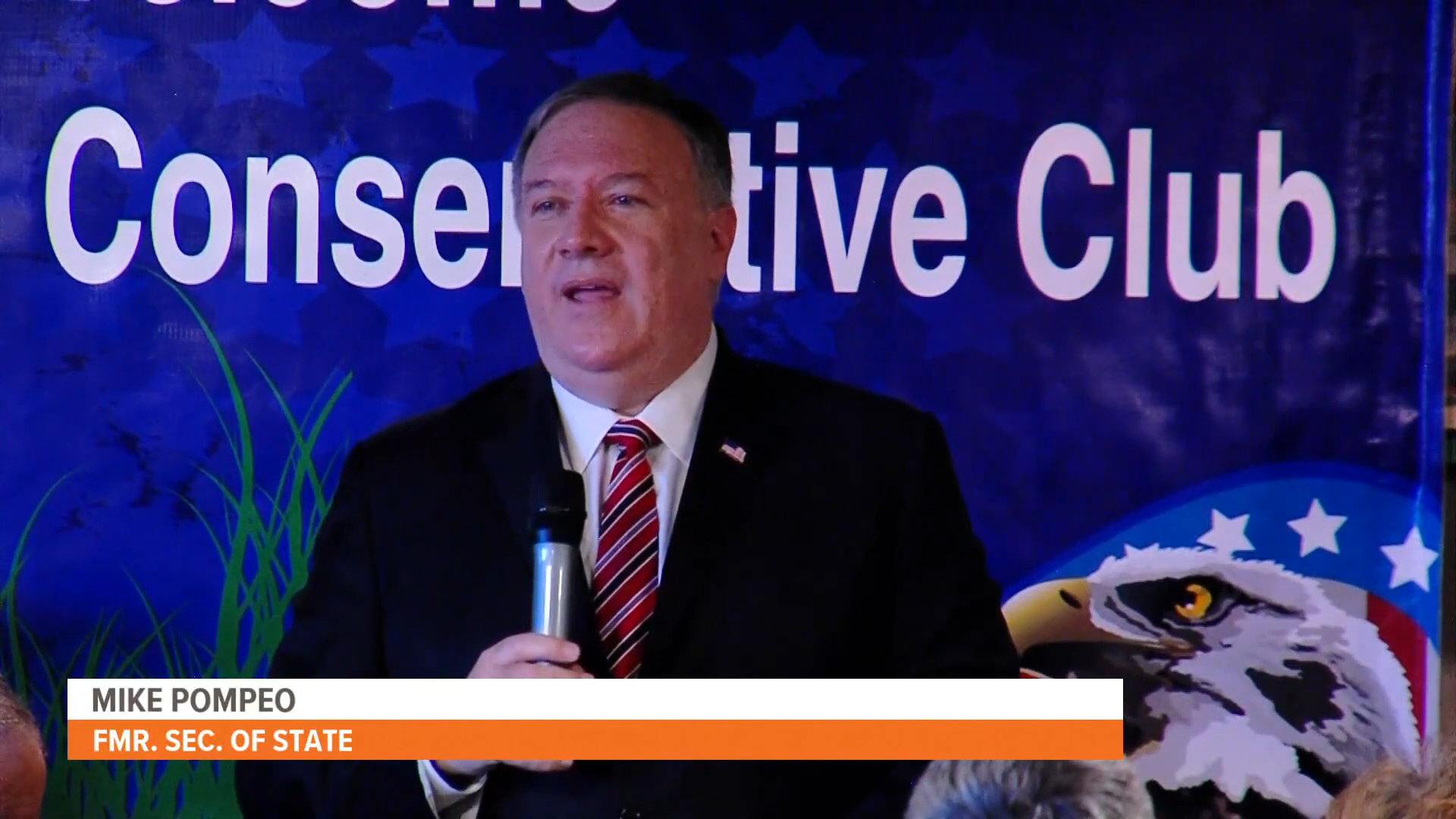 Mike Pompeo speaks at the Westside Conservative Club