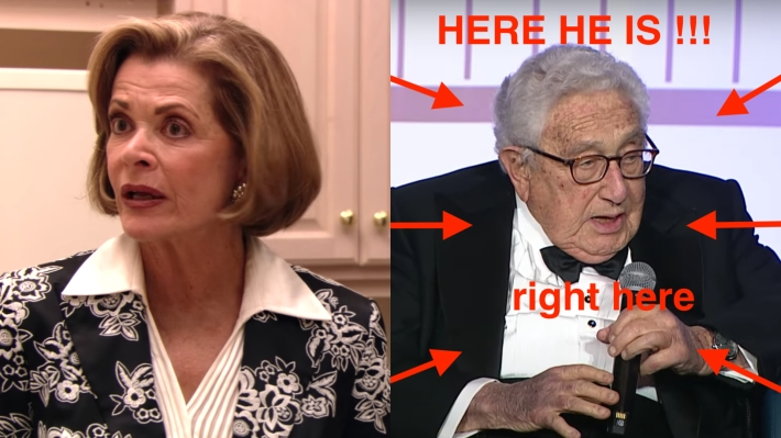 Jessica Walter and Henry Kissinger