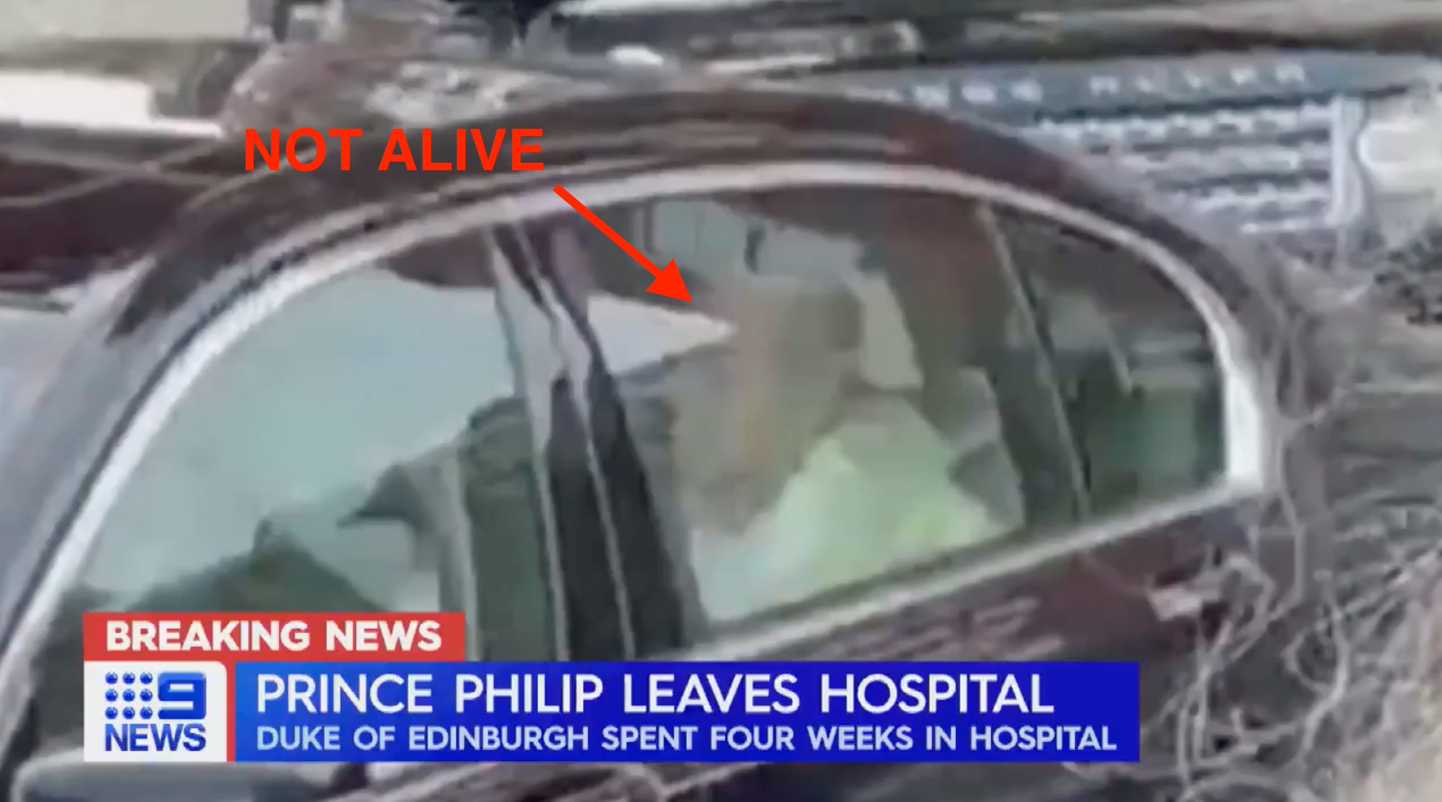 prince philip leaving the hospital