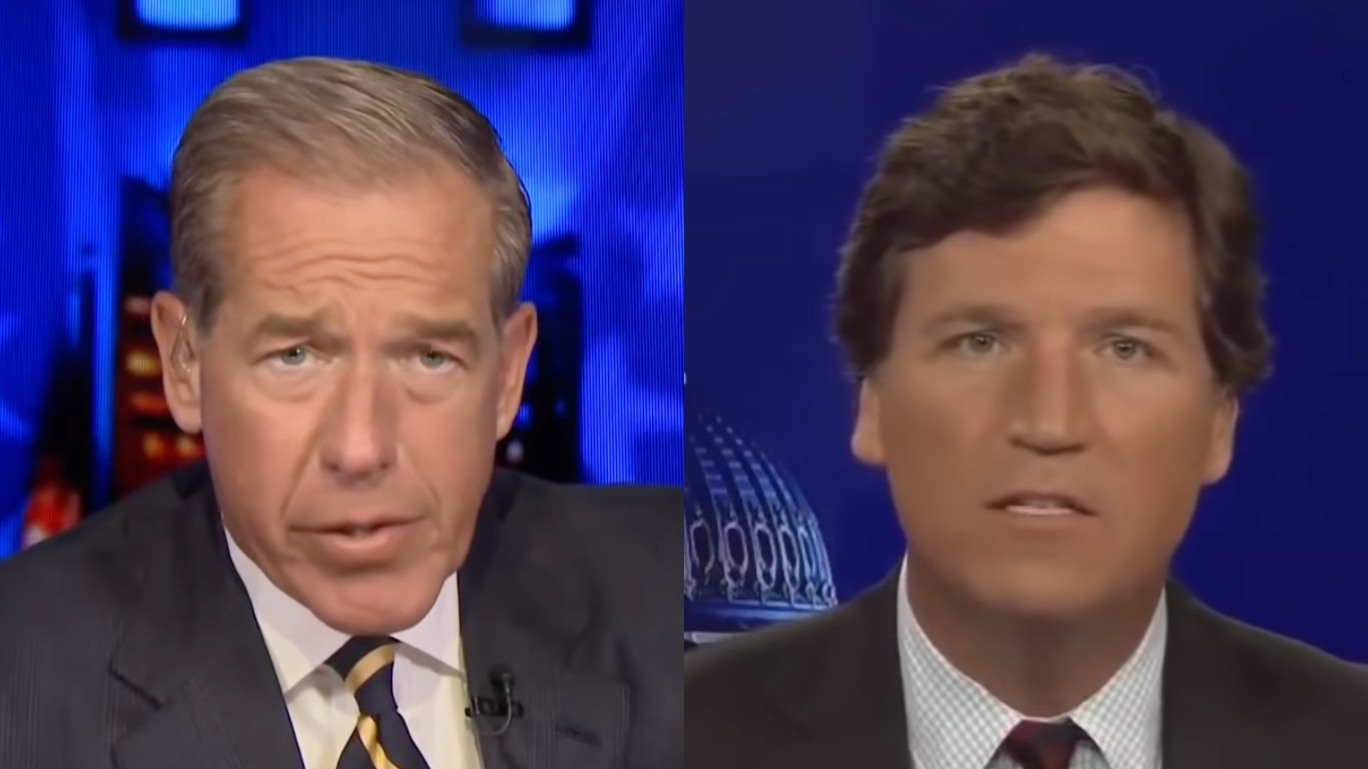 Brian Williams and Tucker Carlson