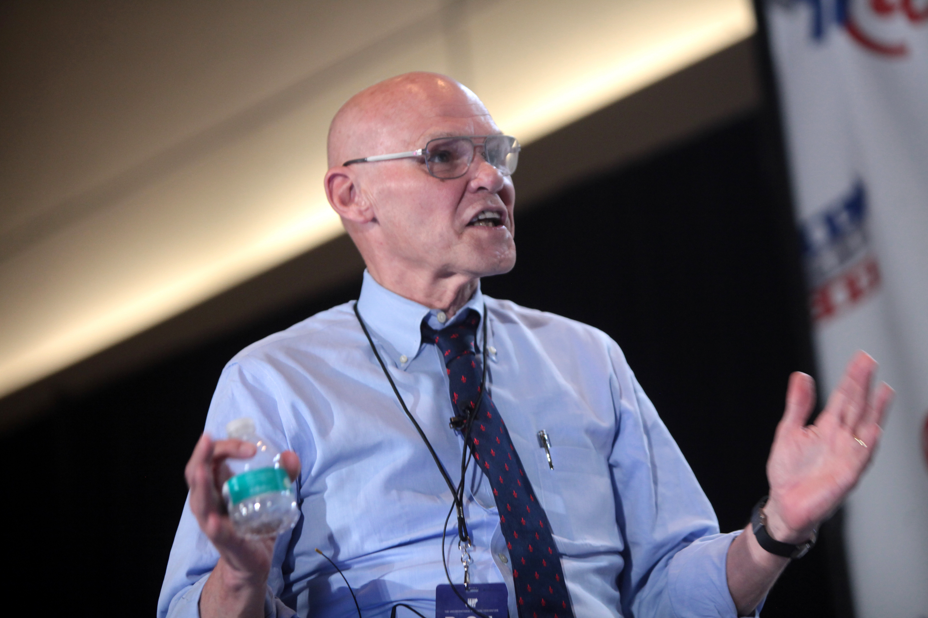 James Carville at Politicon in 2016.