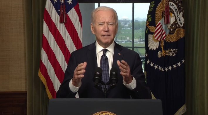 Joe Biden discussing his withdrawal of troops from Afghanistan