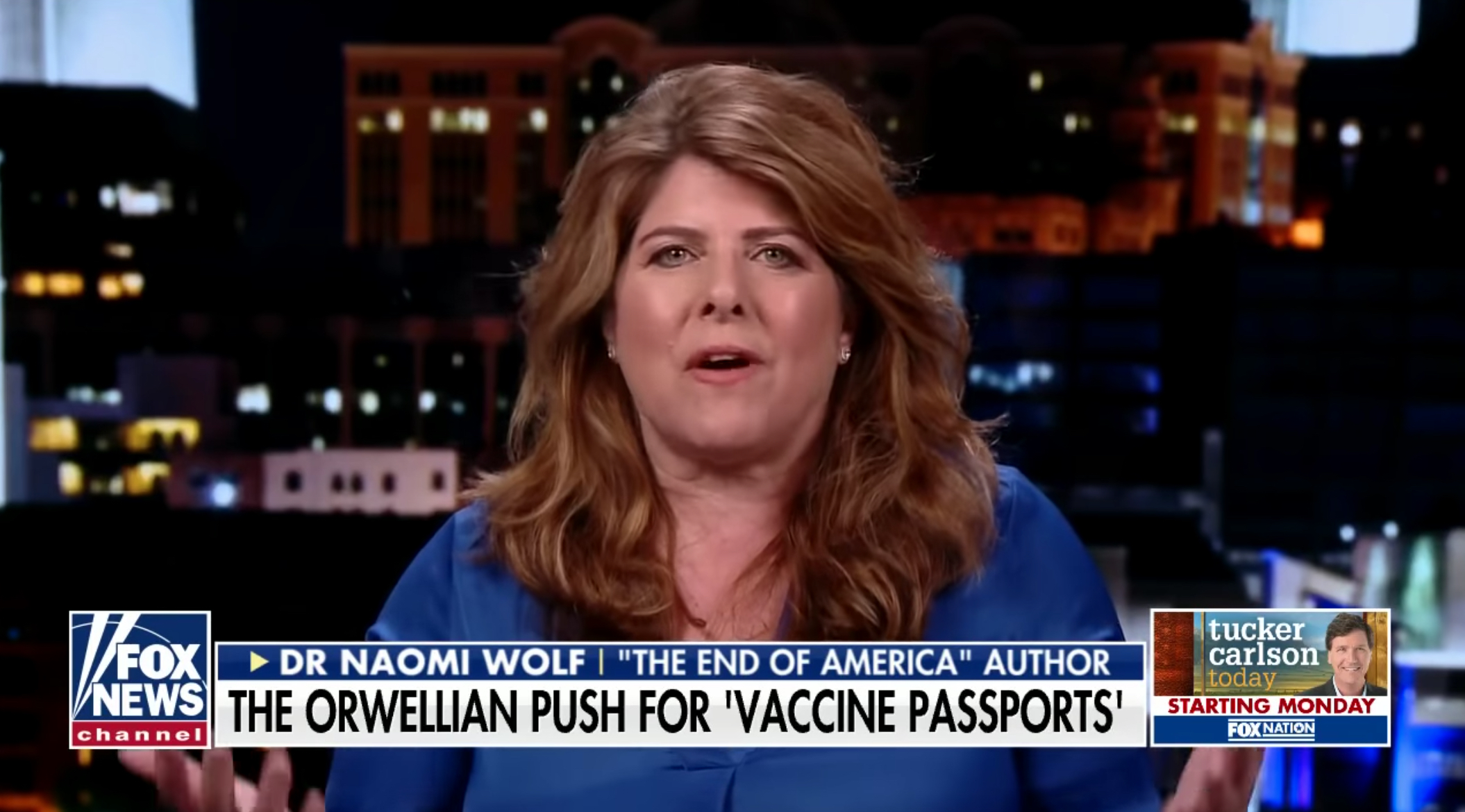 Naomi Wolf goes on Fox News to talk about COVID vaccines