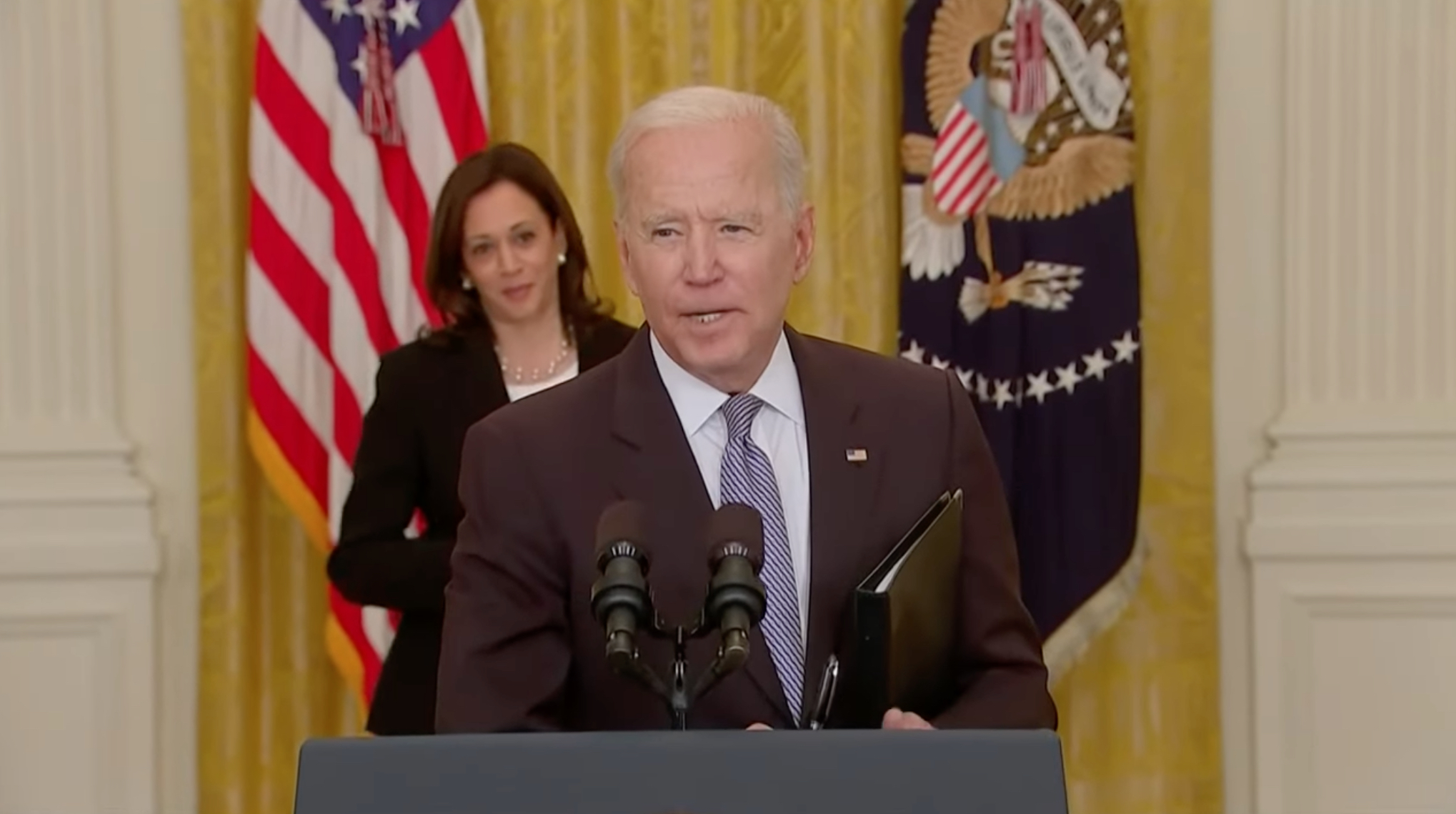 Joe Biden speaks about Palestine and Israel at the White House
