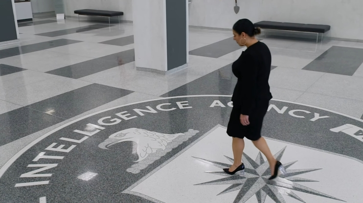 A screenshot of the woman in the CIA's controversial new video