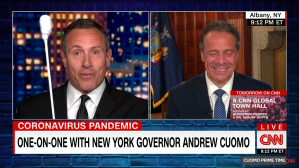 Chris Cuomo teases his brother New York Governor Andrew Cuomo on CNN.