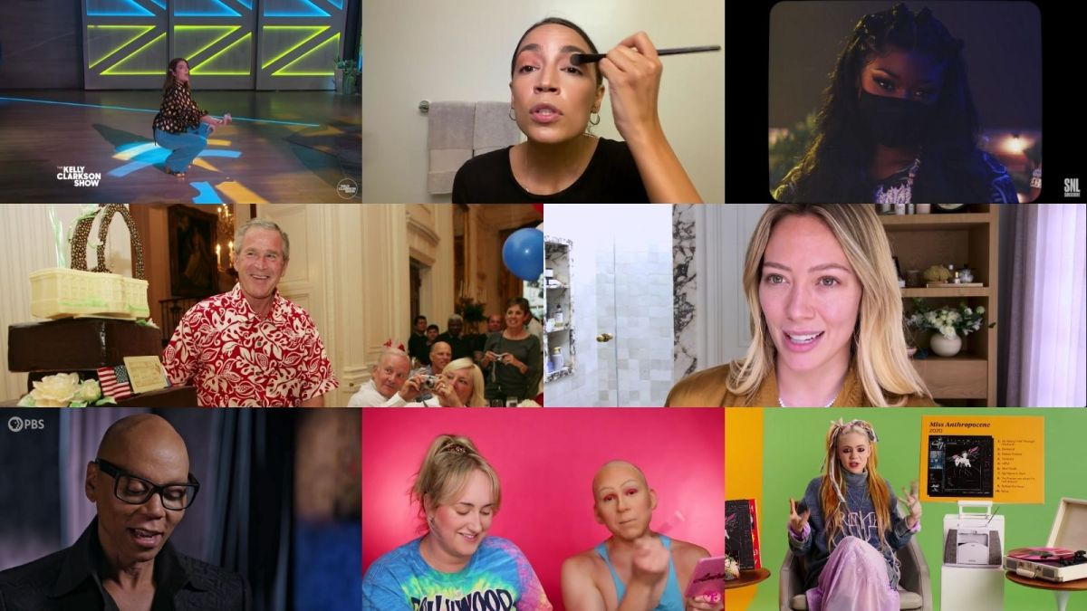 A smattering of screenshots from various makeup tutorial and professional YouTube videos