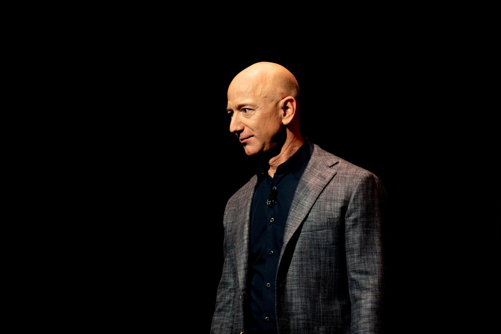 A picture of Jeff Bezos standing around looking rich