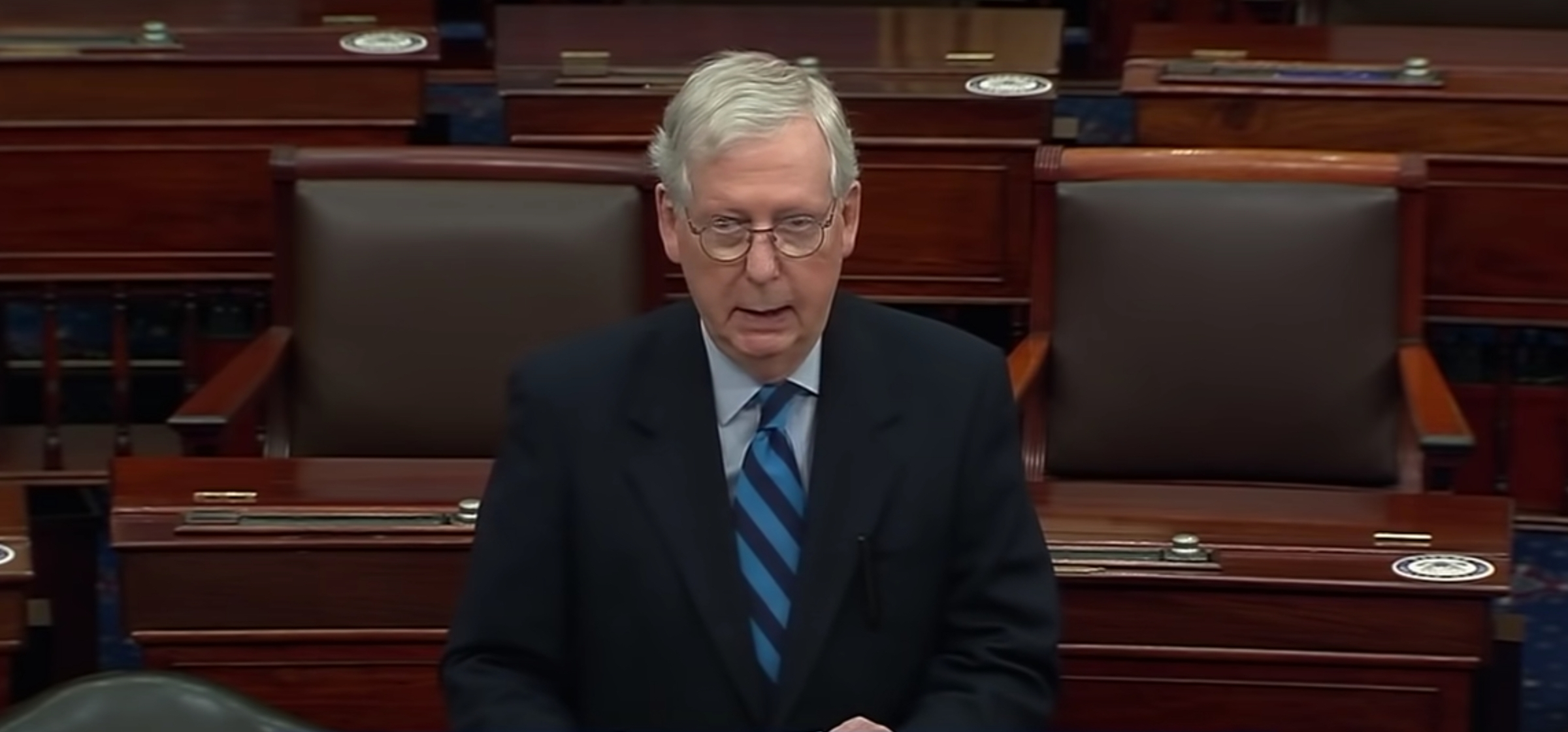 Mitch McConnell speaking in the Senate