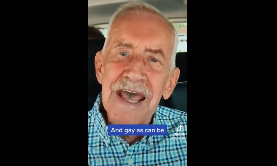 A still image from the Old Gays TikTok video