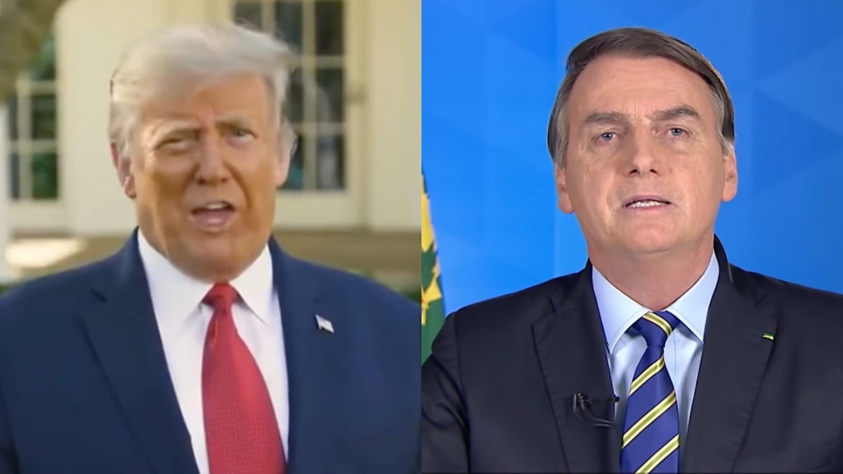 A side by side image of Donald Trump and Jair Bolsonaro