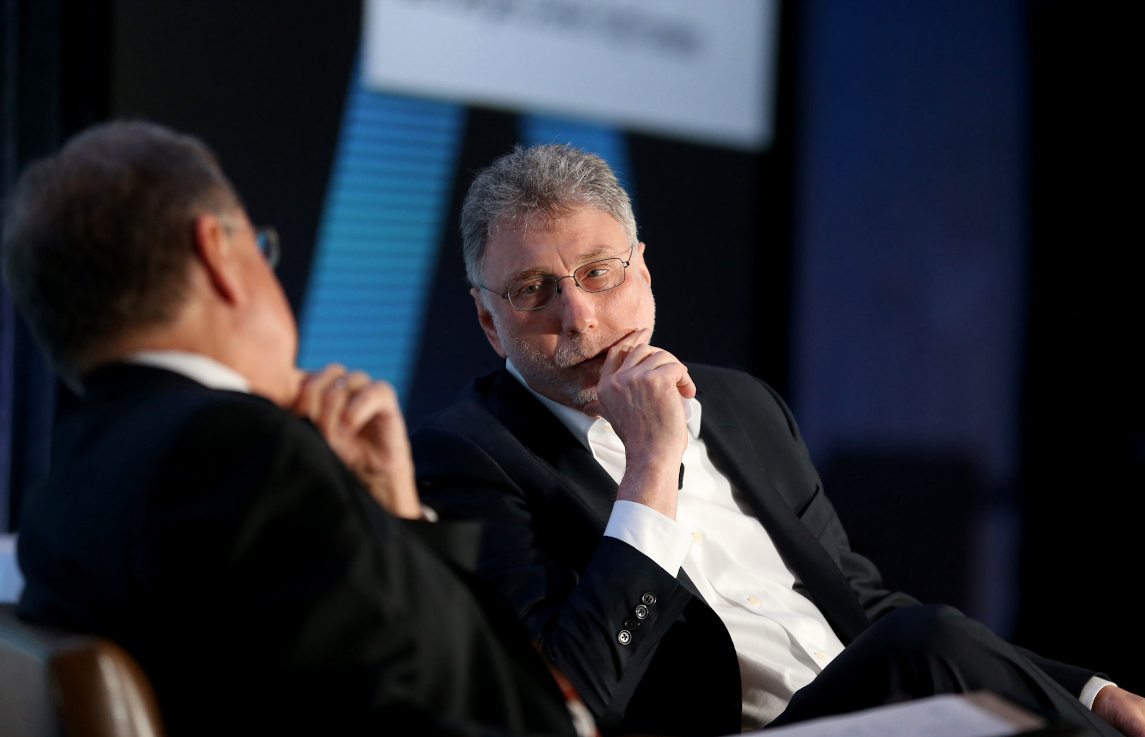 Former Washington Post editor Marty Baron speaking at the Knight Foundation in 2017