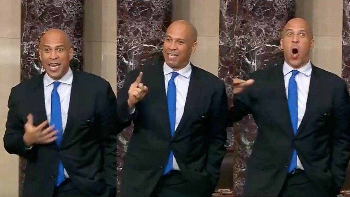 Sen. Cory Booker gives elated response to Sen. Tommy Tuberville on an amendment against defunding the police.