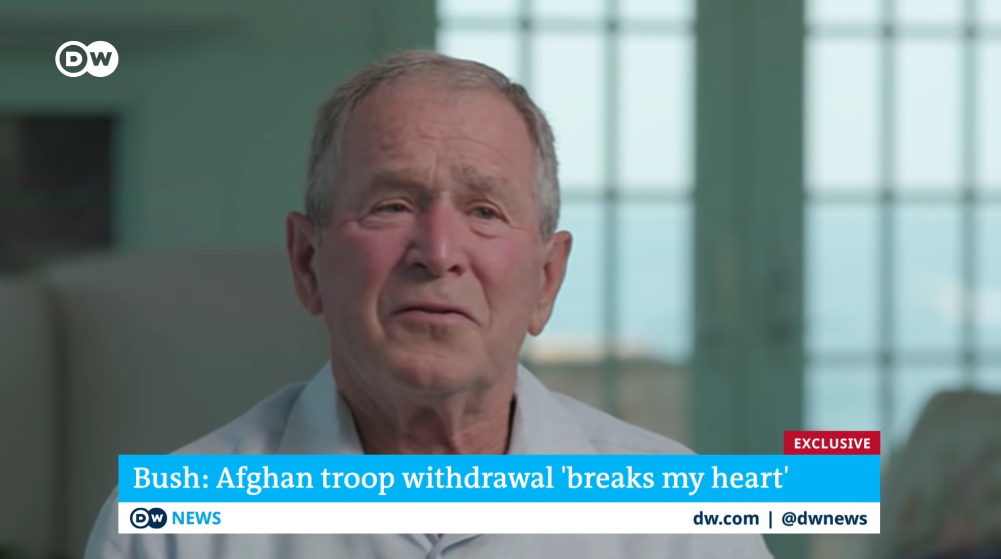 George W. Bush talks about the withdrawal of U.S. troops from Afghanistan